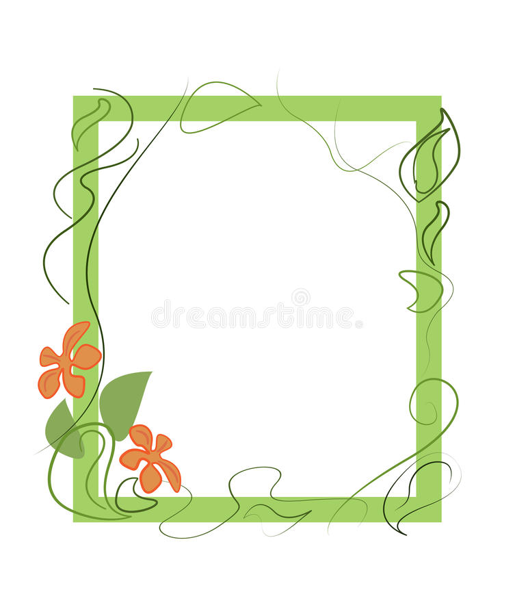 Floral frame . Vector illustration. stock photography