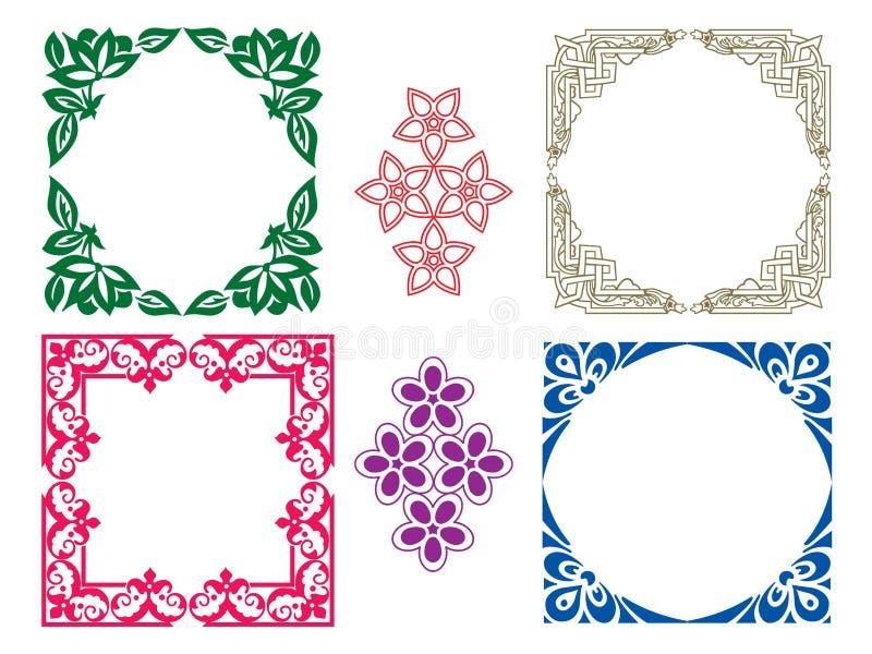 Floral frames royalty free illustration