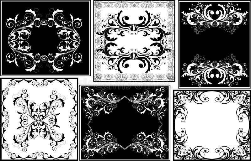 Floral frames stock illustration
