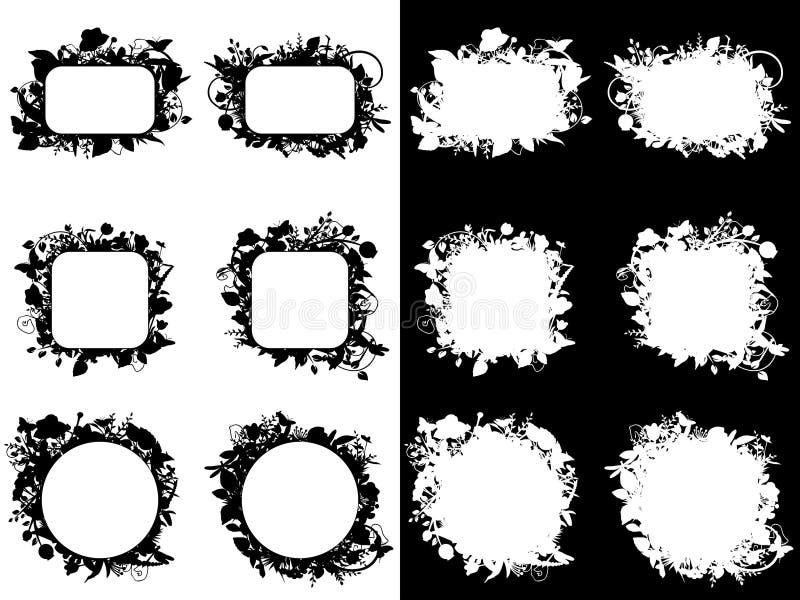 Download Floral frames stock vector. Image of floral, group, flower - 17664472