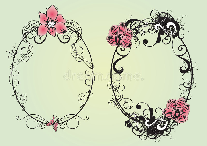Download Floral frames stock vector. Image of abstract, creative - 5002188