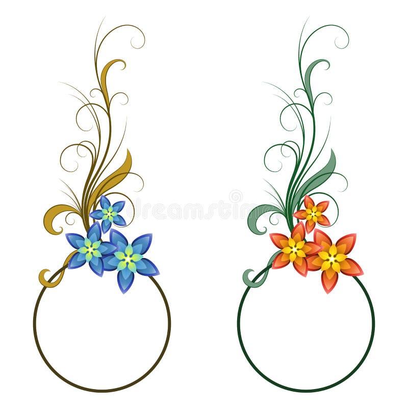 Floral frames vector illustration