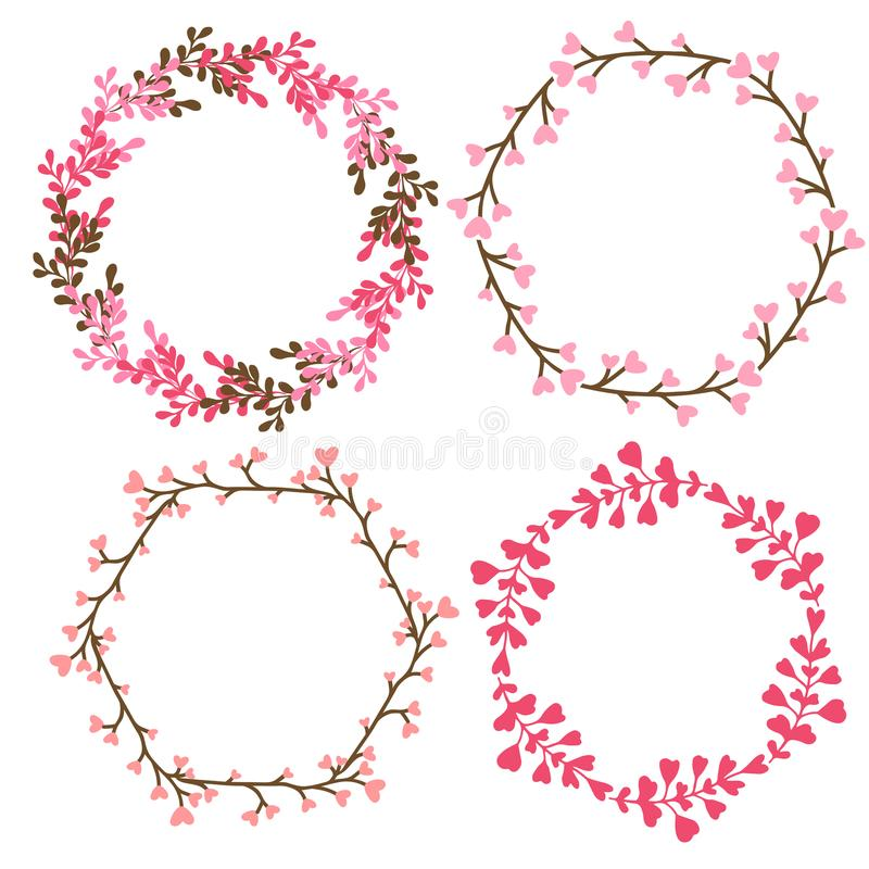 Floral frames decoration vector decorative elements in pink color download floral frames decoration vector decorative elements in pink color can use for birthday junglespirit Image collections
