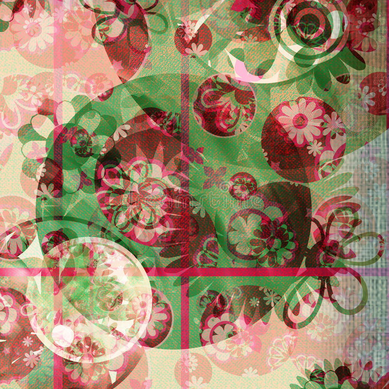 Floral Frenzy Shabby Background vector illustration