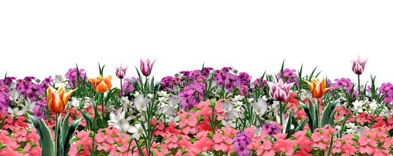 Floral garden web banner royalty free illustration