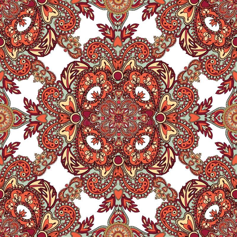 Floral geometric pattern Orient mandala ornament stock image