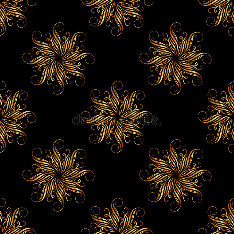 Floral geometric seamless pattern. Fashion graphic. Luxury background design. Modern stylish abstract texture. Template for prints stock illustration