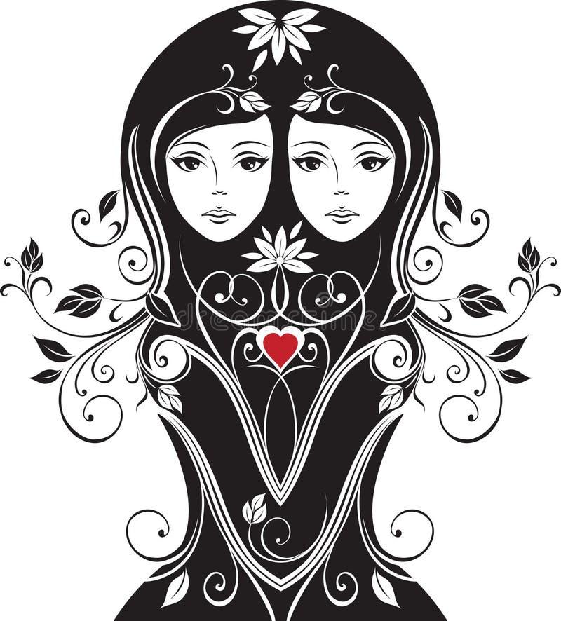 Download Floral girl stock vector. Illustration of illustration - 11446619