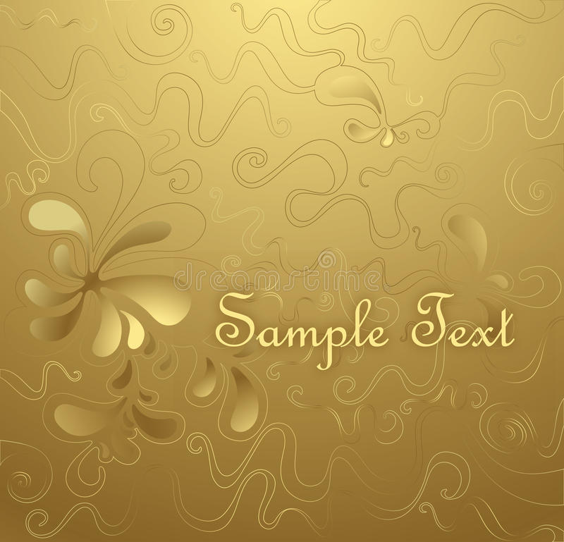 Floral gold background vector illustration