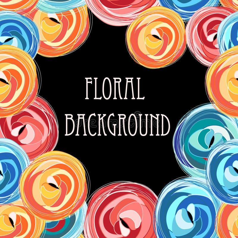 Floral gráfico brilhante ilustração stock
