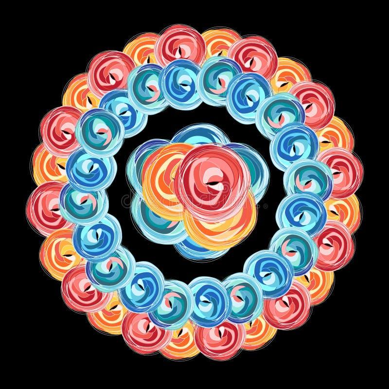 Floral gráfico brilhante ilustração royalty free