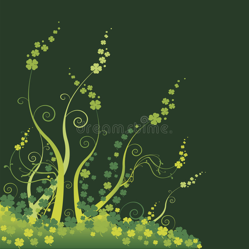 FLORAL GREEN royalty free stock images