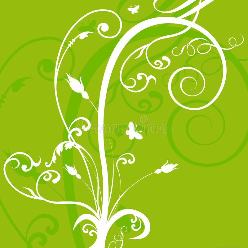Floral green abstract background royalty free illustration