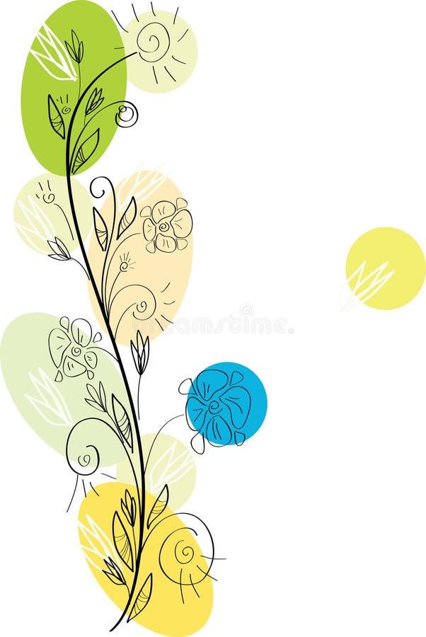 Download Floral greeting card stock illustration. Image of flourish - 12624362