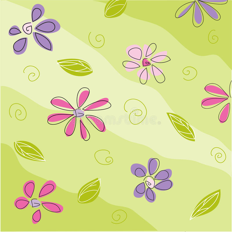 Floral greeting card stock illustration