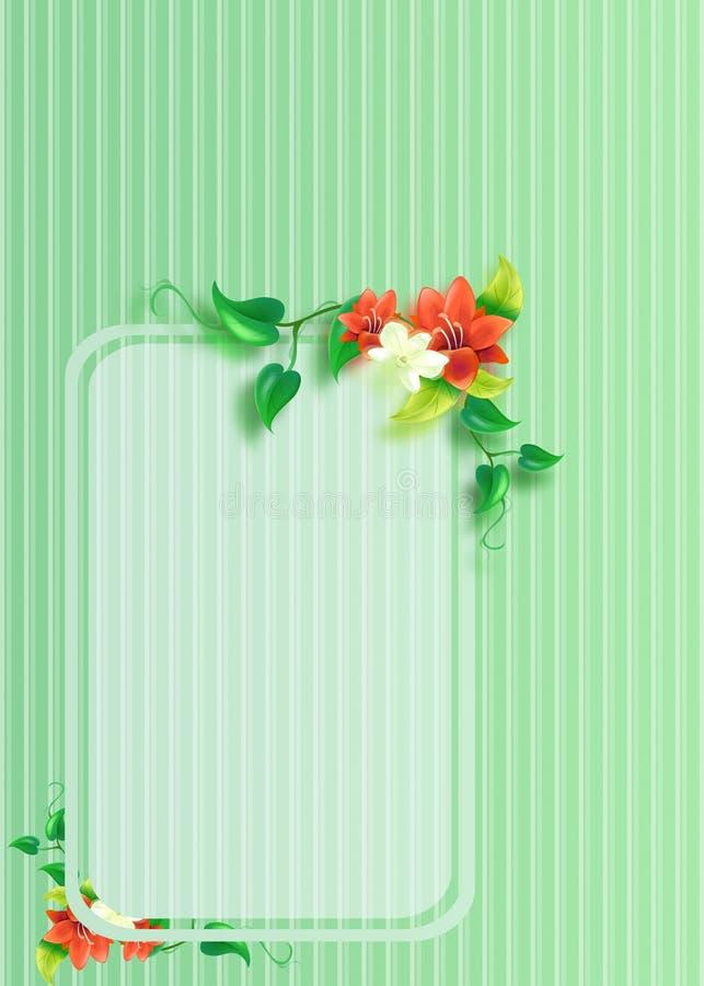 Download Floral Greeting Card stock illustration. Illustration of background - 30364093