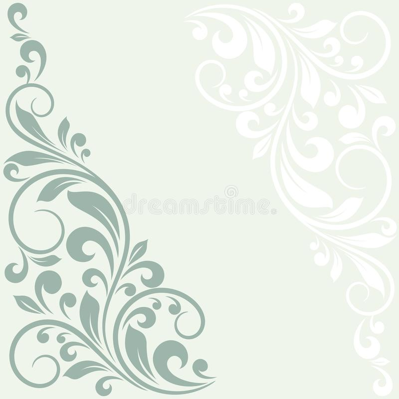 Floral greeting card. This is file of EPS10 format royalty free illustration