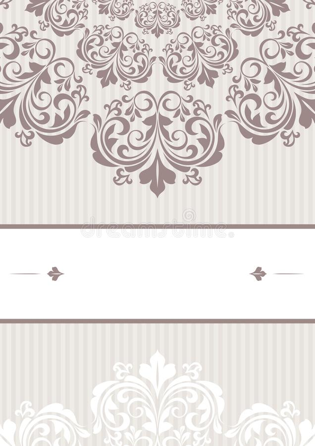 Floral greeting card. This is file of EPS10 format vector illustration
