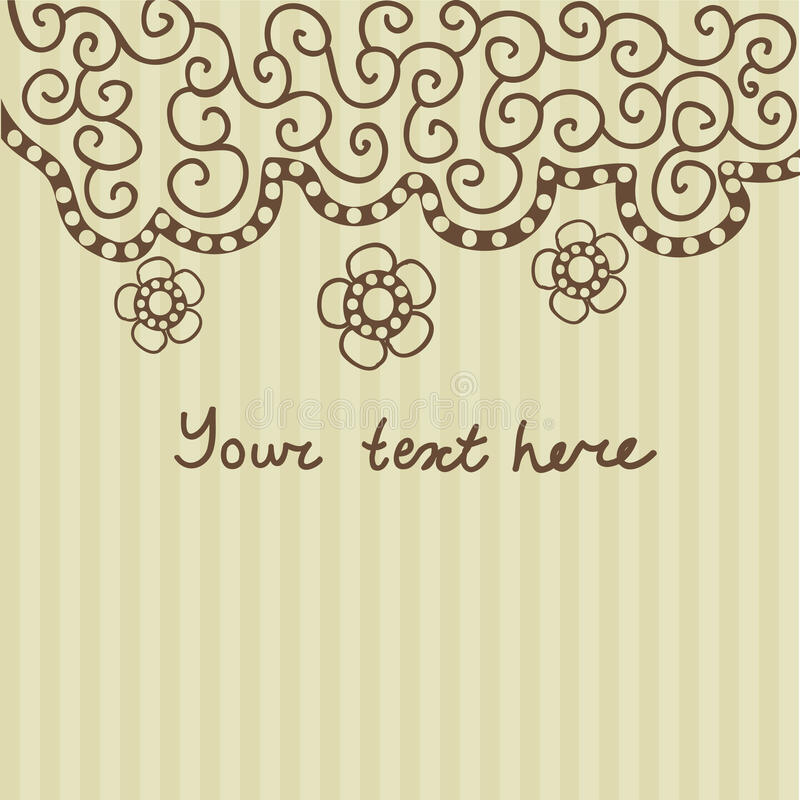 Floral greeting card with place for your text. Floral greeting card with place for your text stock illustration