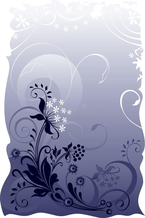 floral grunge ανασκόπησης ελεύθερη απεικόνιση δικαιώματος