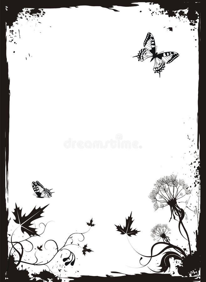 floral grunge πικραλίδων ανασκόπηση&sigm απεικόνιση αποθεμάτων