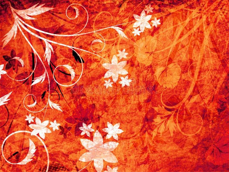 floral grunge διανυσματική απεικόνιση