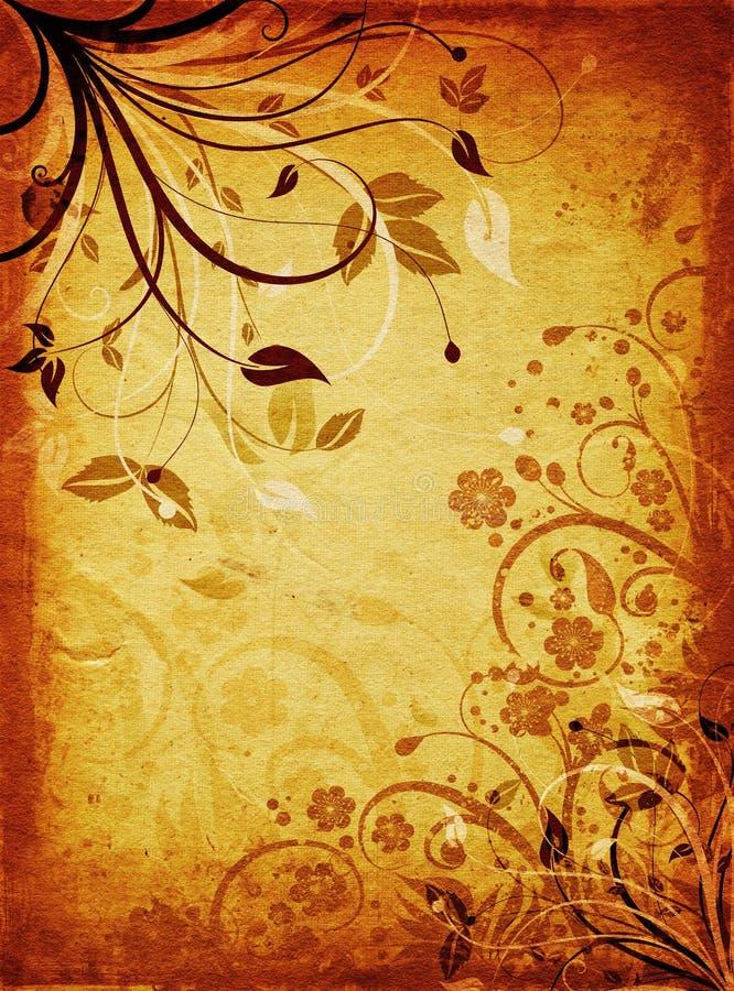 Floral grunge στοκ εικόνες
