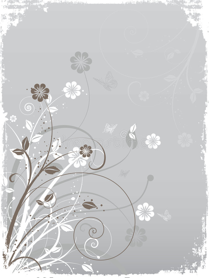Floral grunge stock illustration