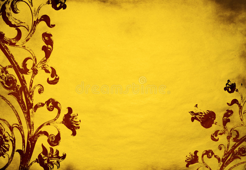Download Floral grunge background stock illustration. Image of canvas - 1404971