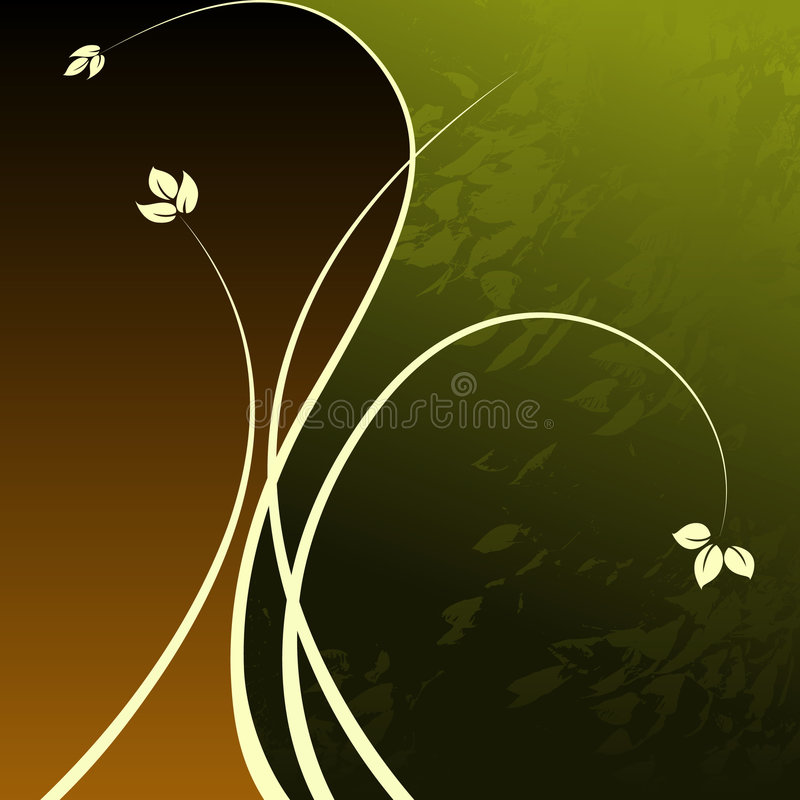 Floral Grunge Background vector illustration