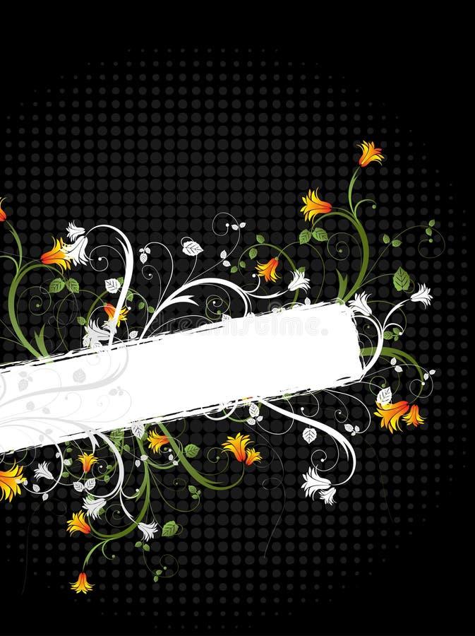 Floral grunge design vector illustration