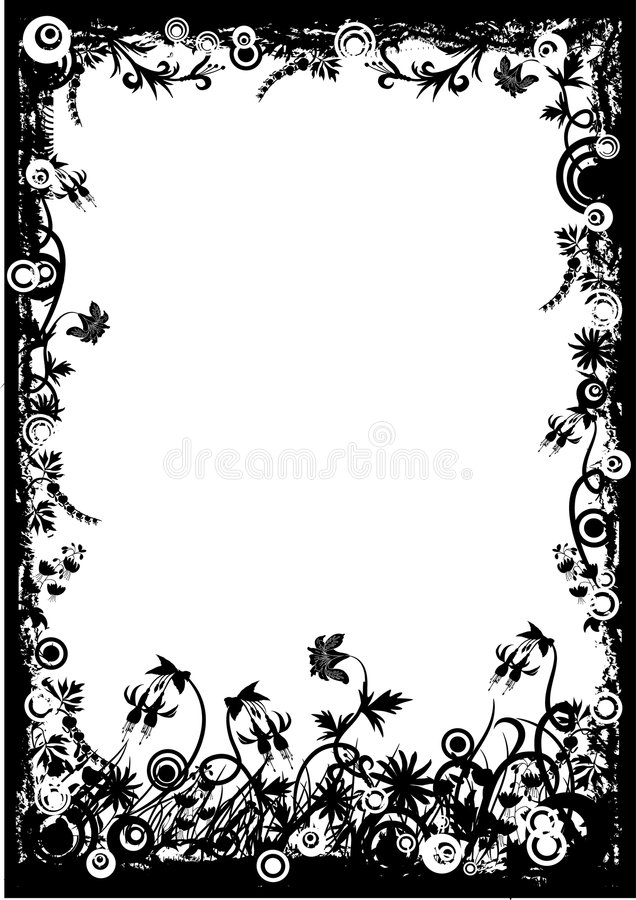 Free Floral Grunge Frame, Vector Stock Photography - 1792532