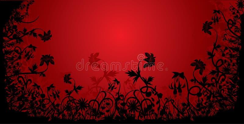 Floral grunge frame, vector vector illustration