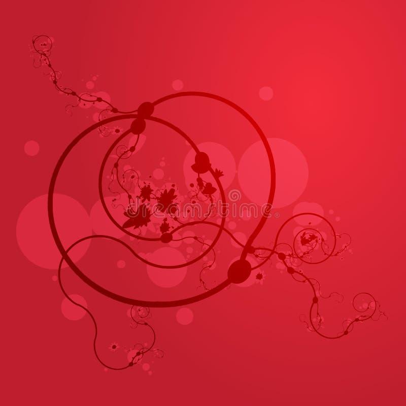 floral grunge swirly ελεύθερη απεικόνιση δικαιώματος