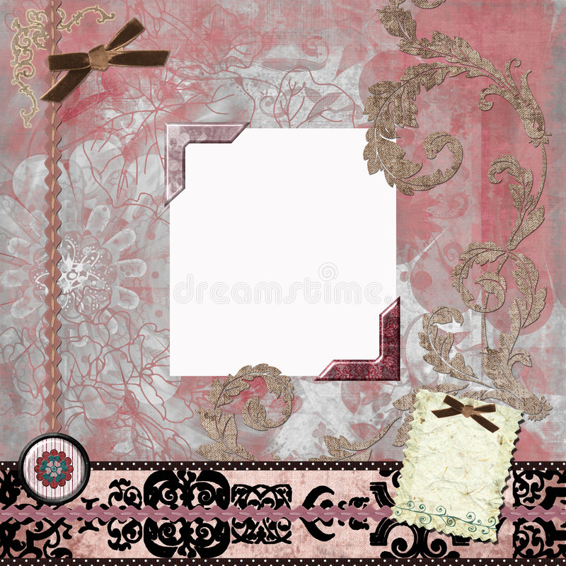 Floral Gypsy Bohemian Tapestry Scrapbook Background royalty free stock image