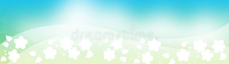 Floral Header, Spring foliage royalty free illustration