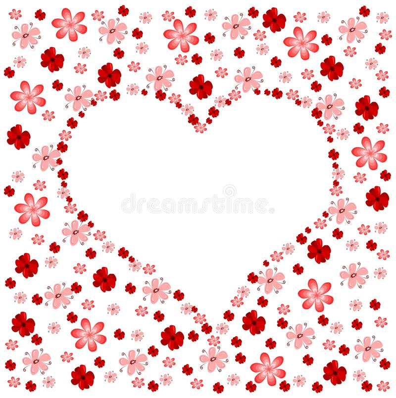 Floral Heart Royalty Free Stock Image