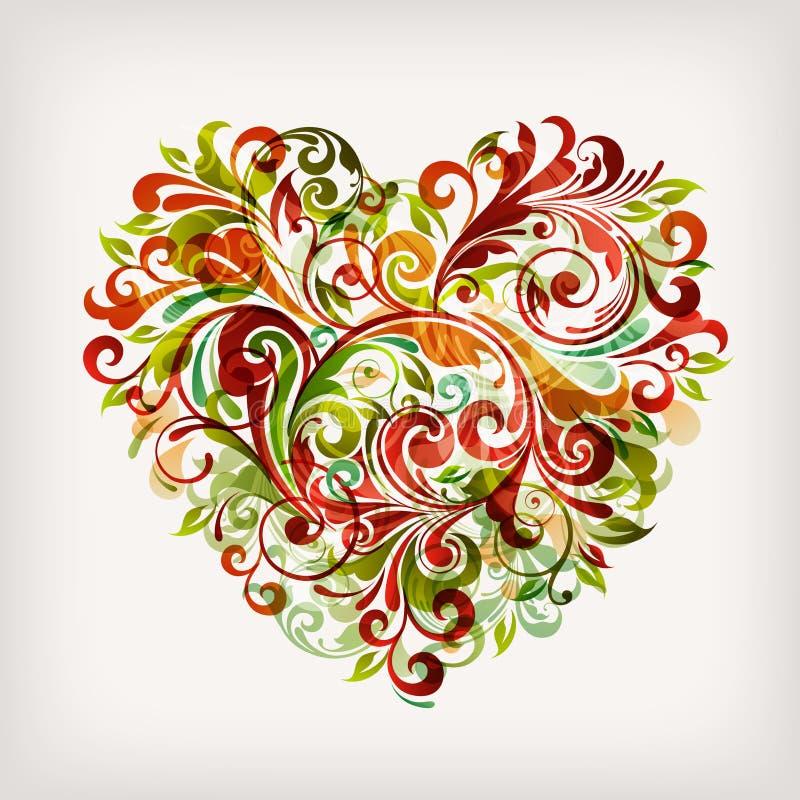 Floral heart vector illustration