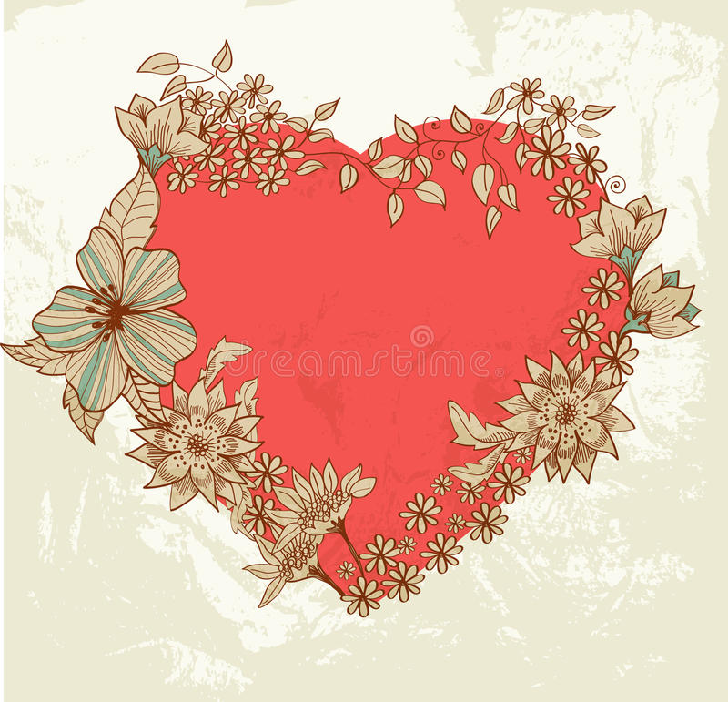 Download Floral heart stock vector. Image of design, drawing, elegance - 28465543