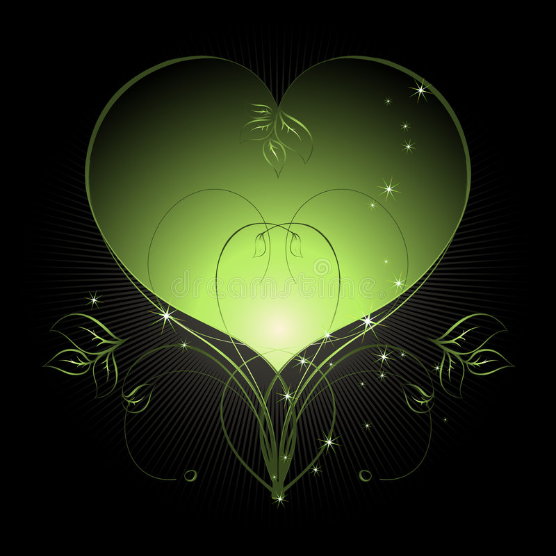 Floral heart royalty free illustration