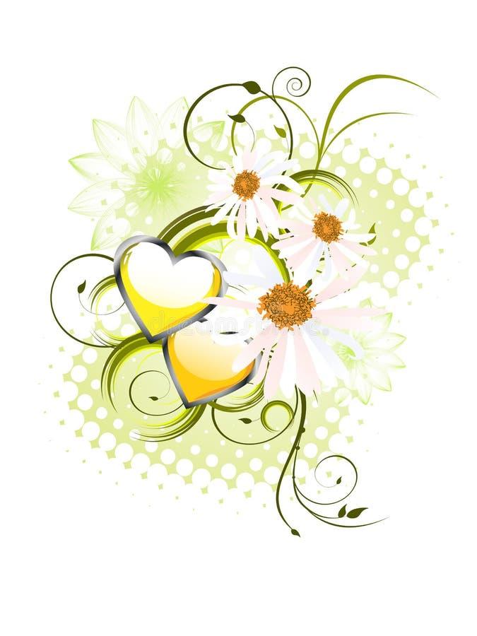 Floral heart design stock illustration