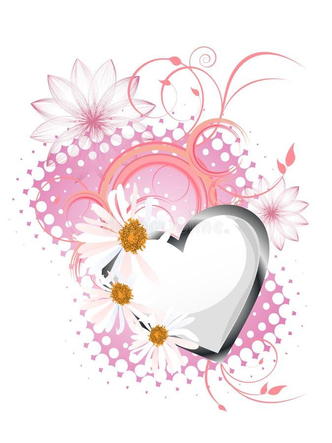 Floral heart design vector illustration