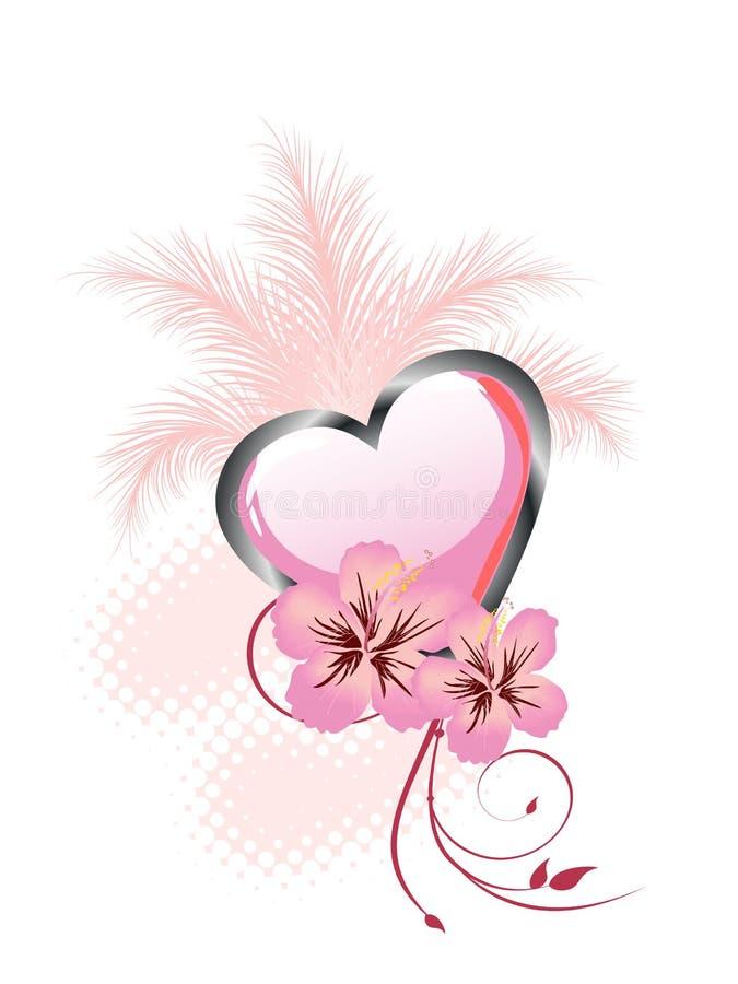 Floral heart design royalty free illustration