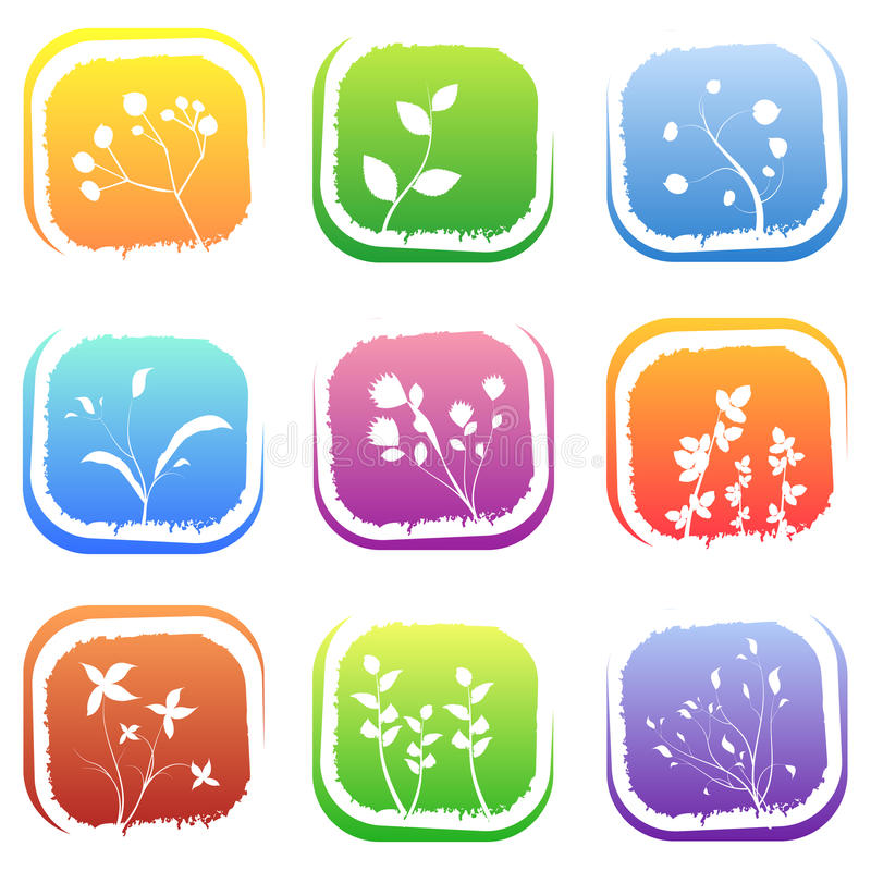 Download Floral icons stock vector. Image of fruit, happy, modern - 14813323