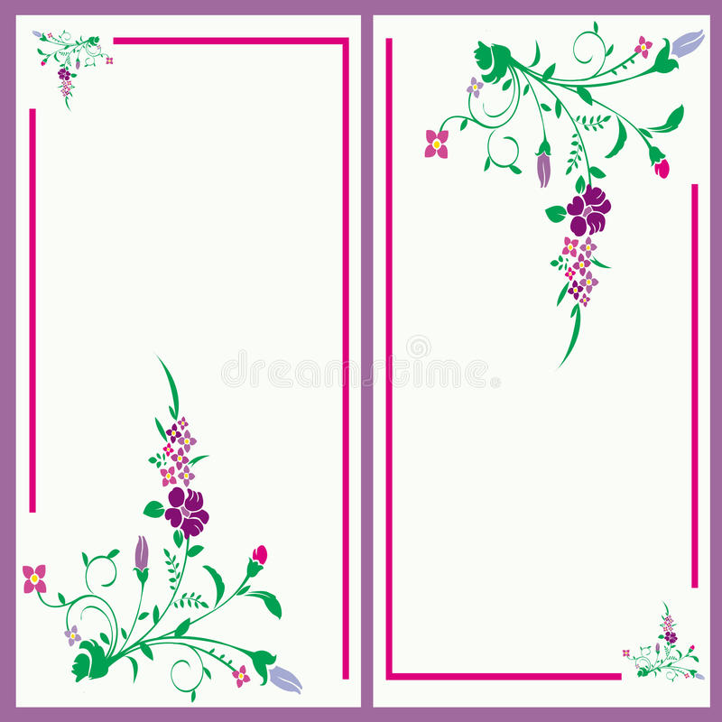 Floral invitation card stock images