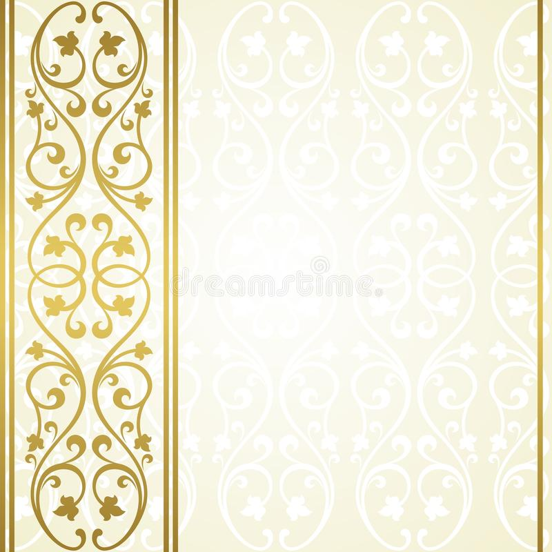 Floral invitation card. stock illustration