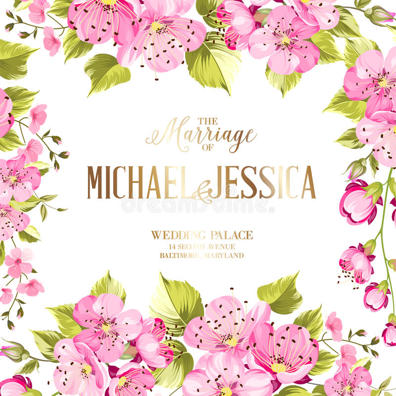 Floral invitation card stock vector illustration of marriage download floral invitation card stock vector illustration of marriage 90783995 mightylinksfo