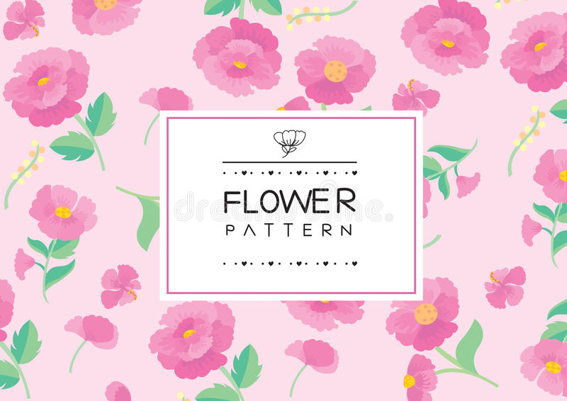 Floral label royalty free stock images