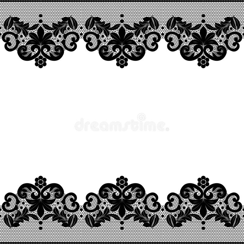 Black Flower And Bud Pattern Royalty Free Stock Photos: Floral Lace Pattern Stock Vector. Illustration Of Vector
