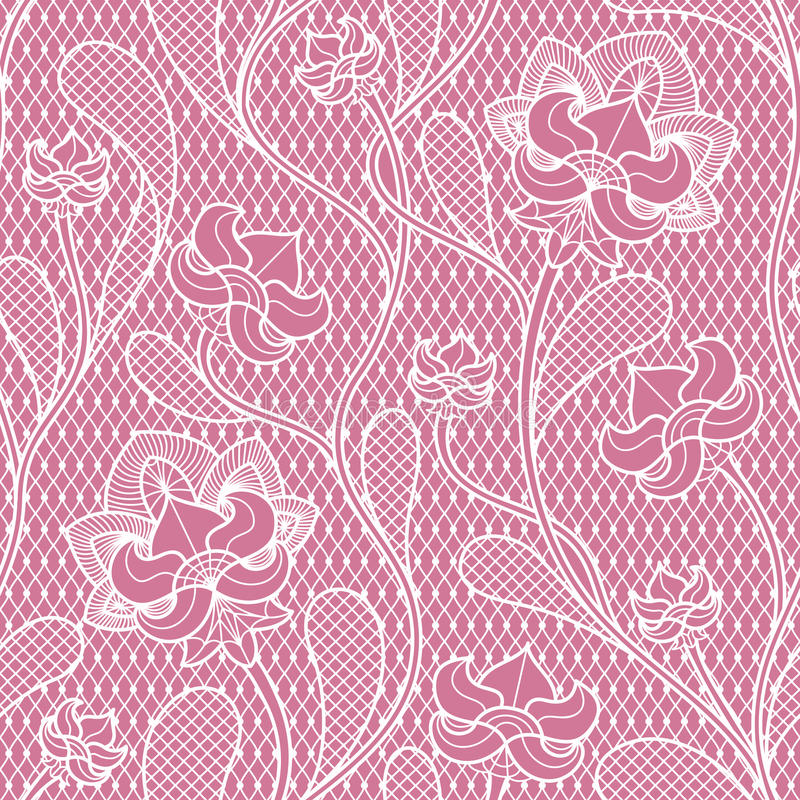 Floral lace seamless texture. Retro victorian pattern. Fabric retro texture with lace pattern. Vector illustration stock illustration